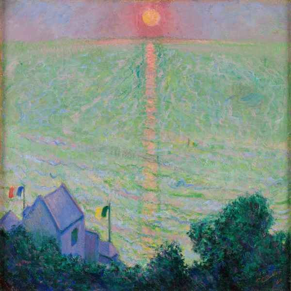 Theodore Earl Butler, Coucher de soleil à Veules-les-Roses © Musée de Vernon